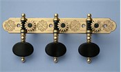 L360: Rodgers style engraved brass side plates, ebony oval buttons